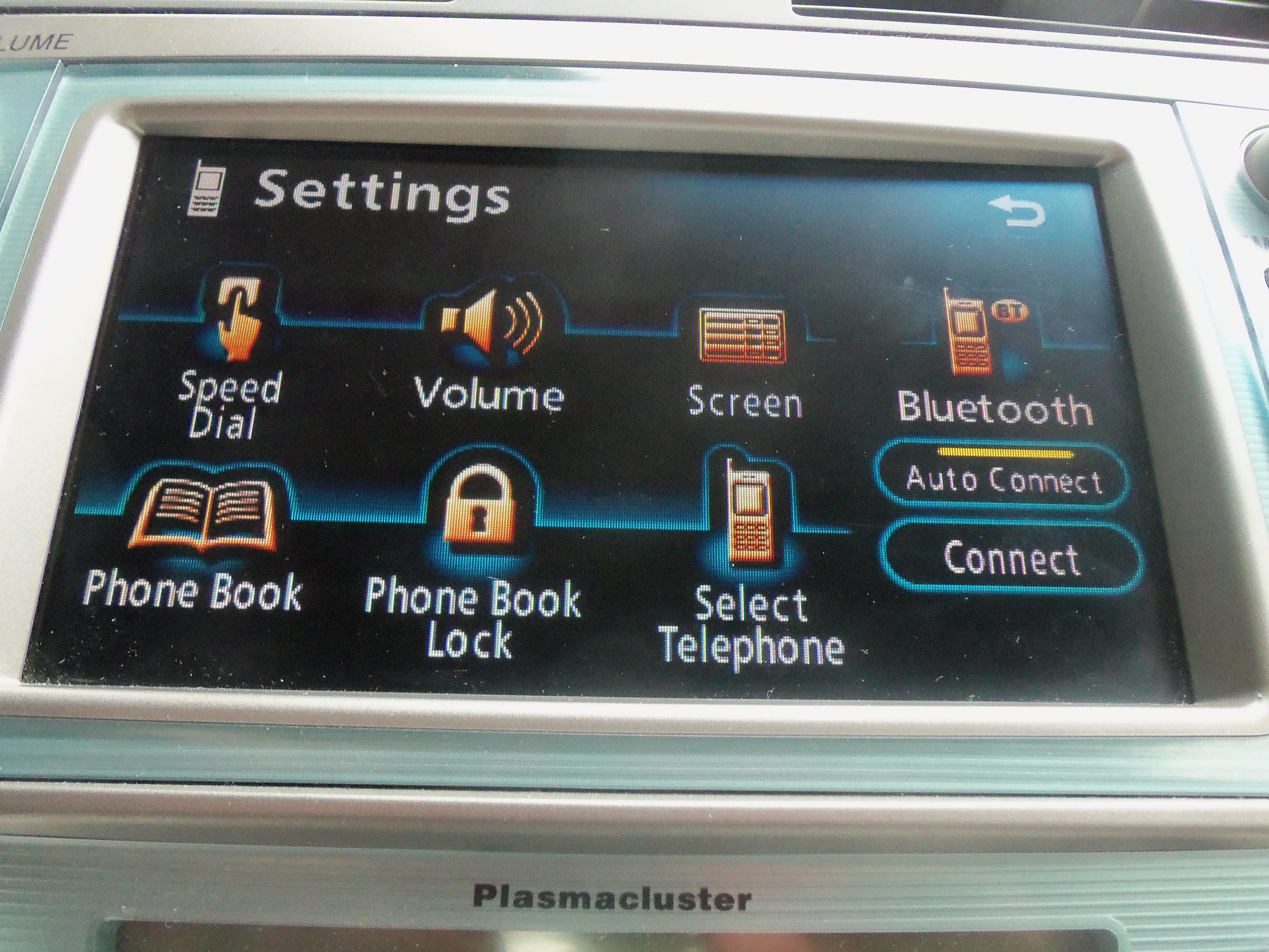 Toyota Camry Bluetooth Cell Phone Settings