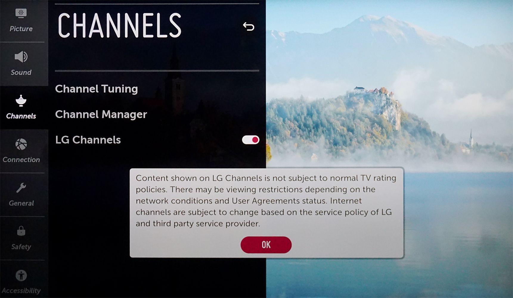LG Channels – Parental Guide Notice