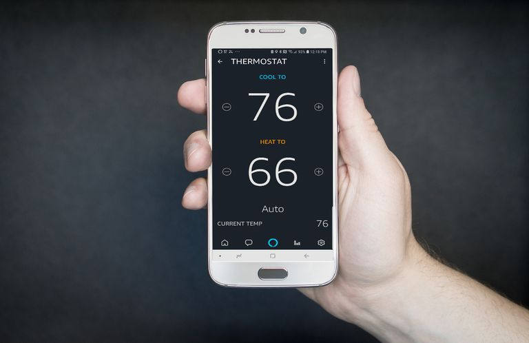 phone with thermostat information