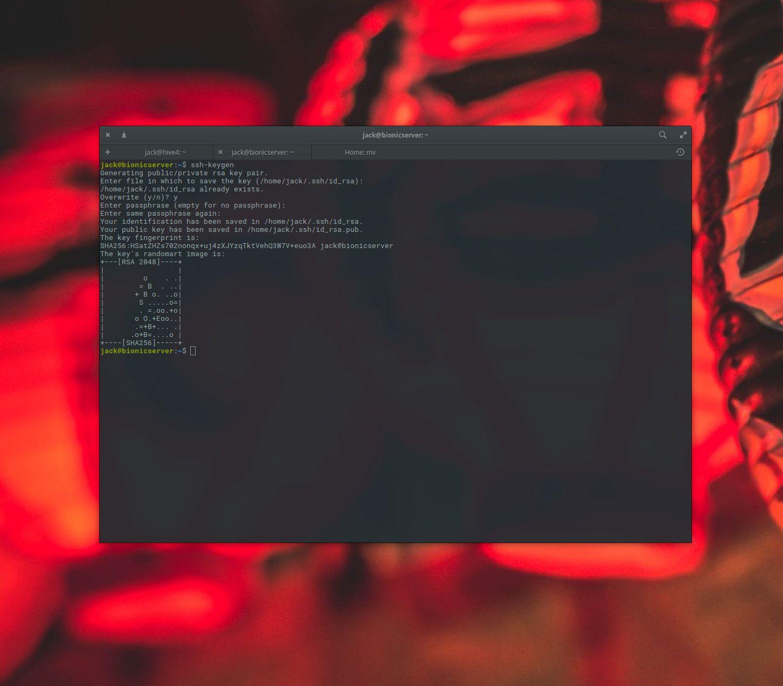 ssh-keygen usage in linux