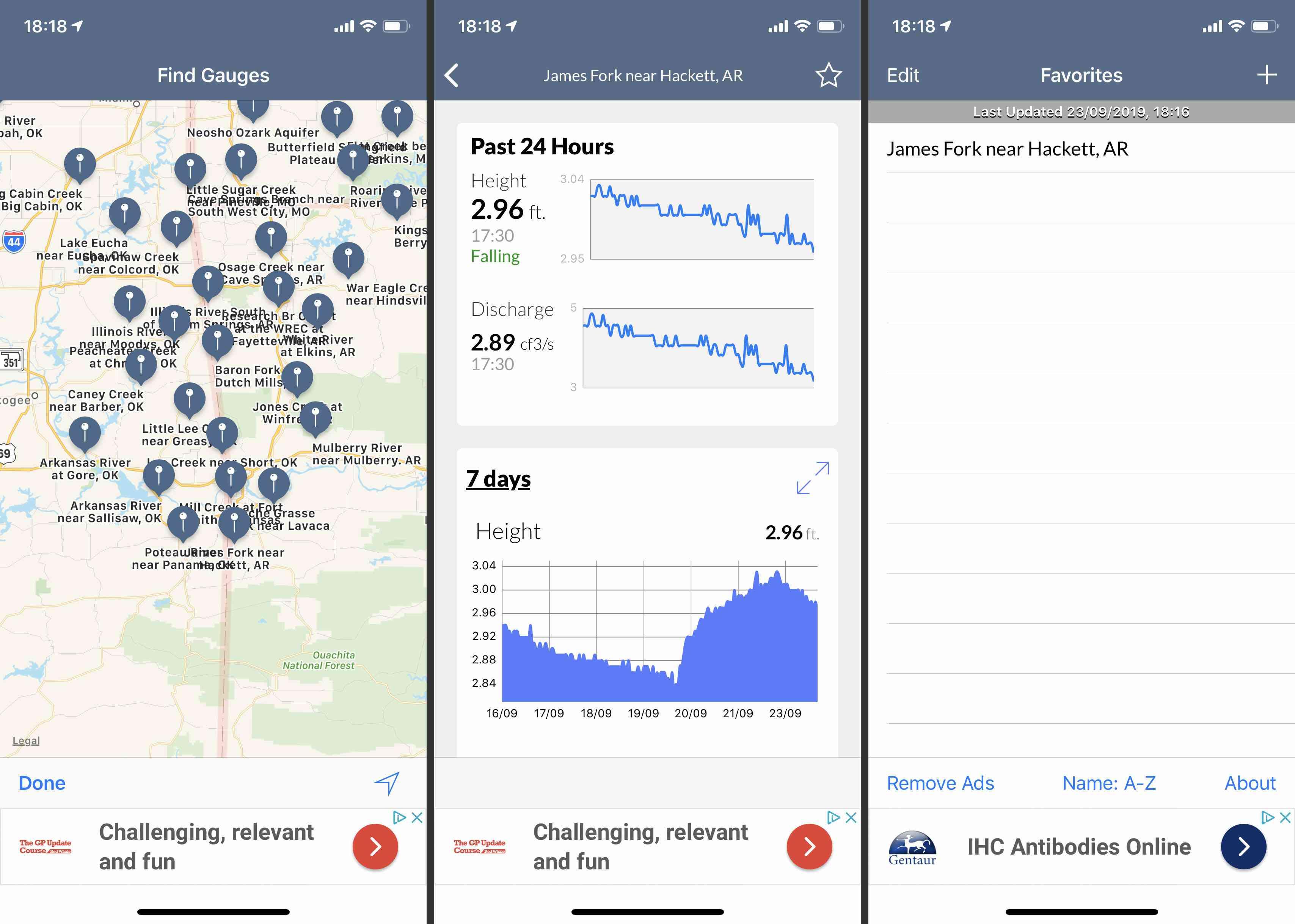 Floodwatch iOS app screenshots