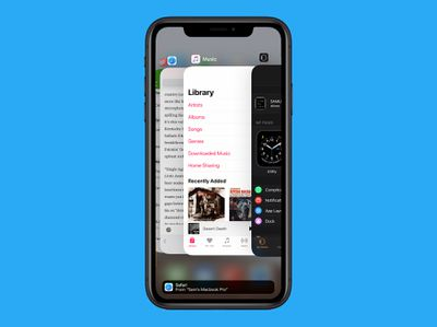 multitasking on iPhone in iOS 12