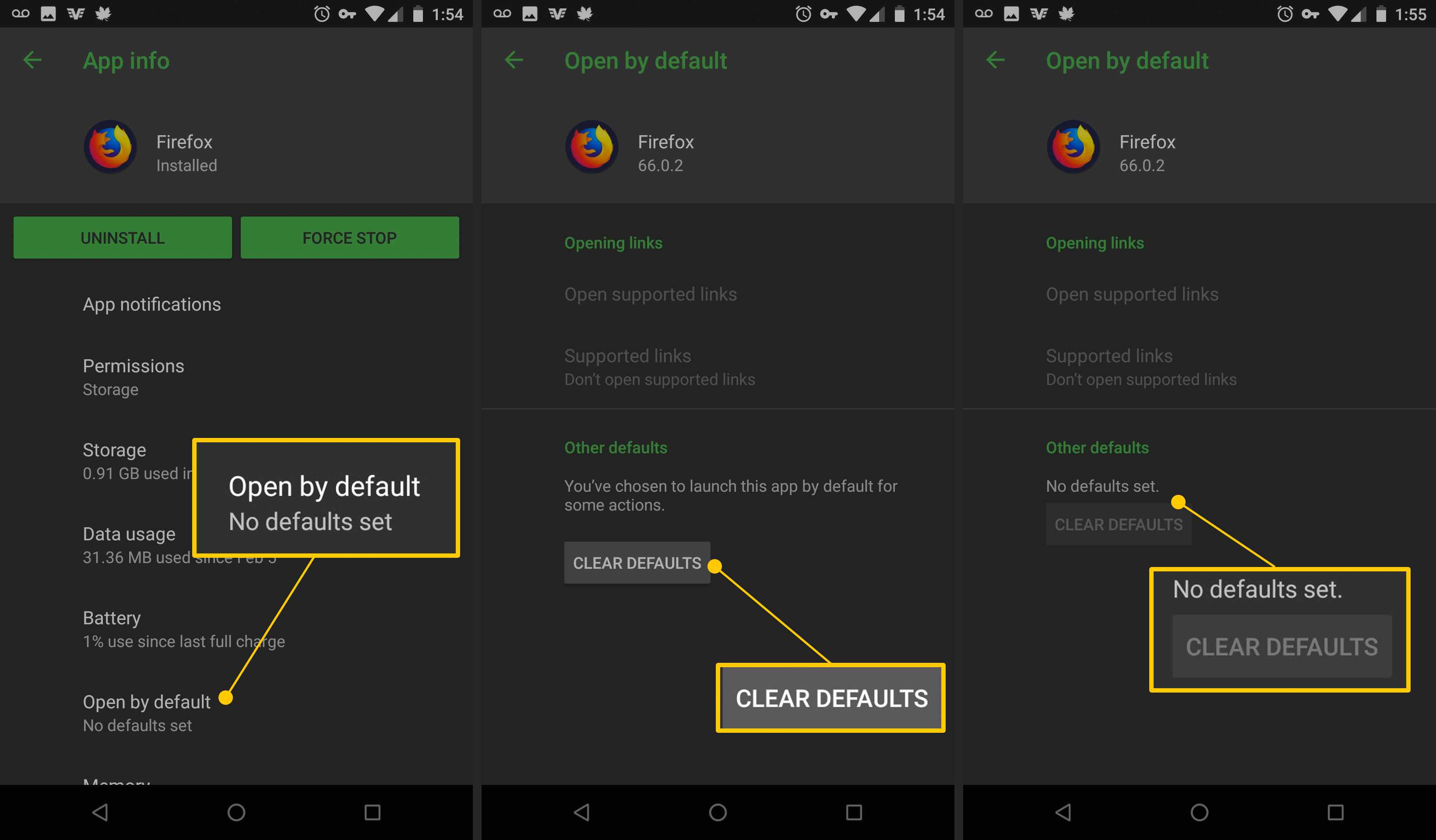 How to Set and Clear Default Apps in Android