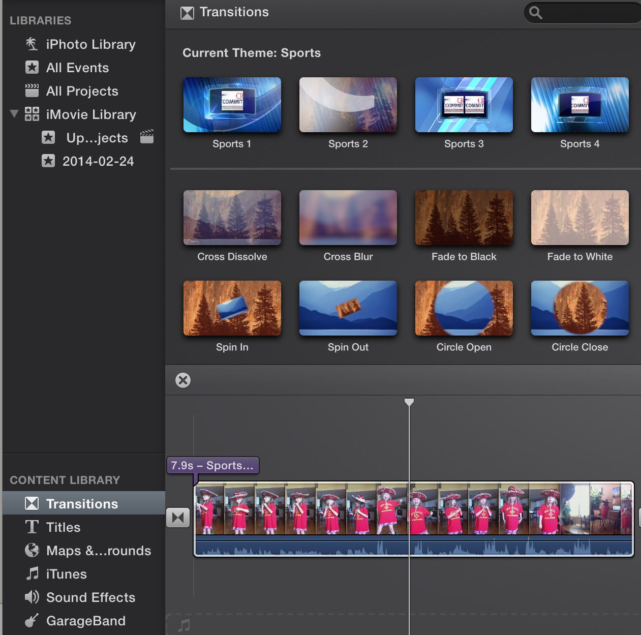 Transitions And Effects In Imovie 10