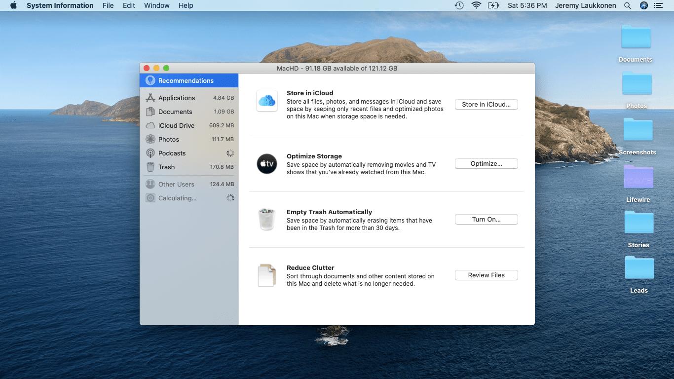 A screenshot of macOS disk management.