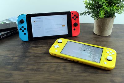 A Switch and Switch Lite enabling gamesharing