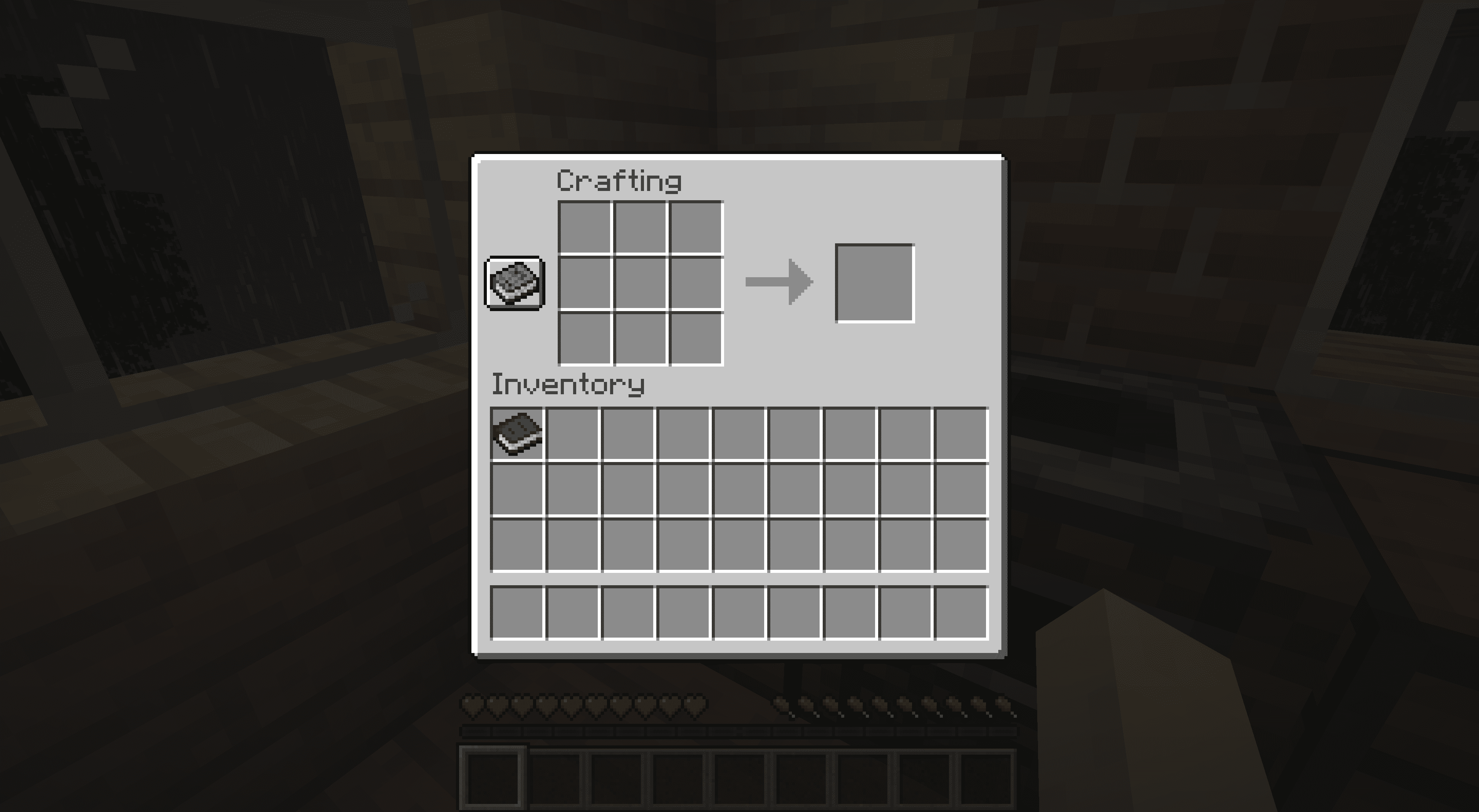A crafted book in Minecraft.