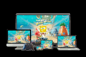 Amazon Luna and SpongeBob video game on desktop, tablet, and mobile