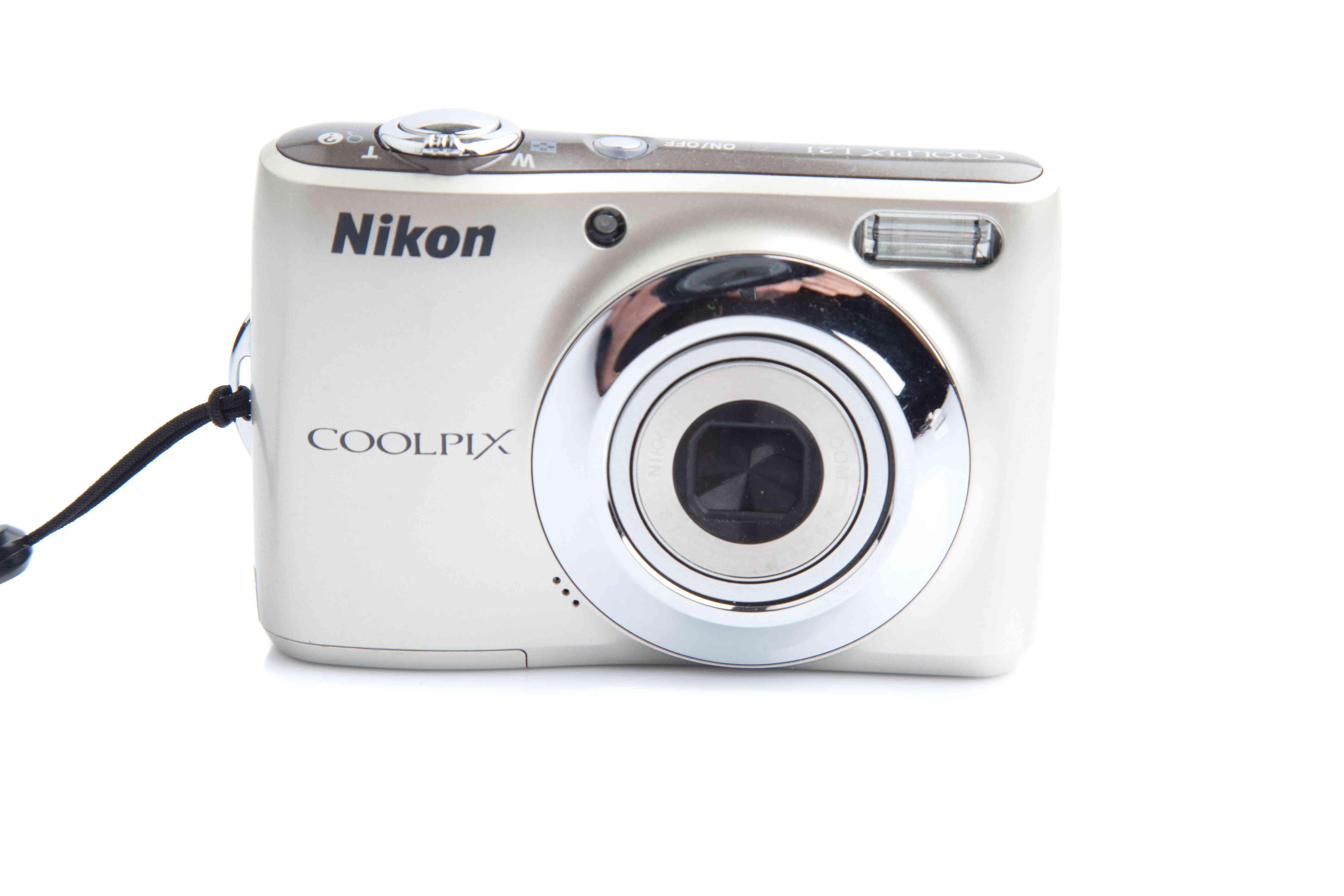 White Nikon Point and Shoot Digital Camera