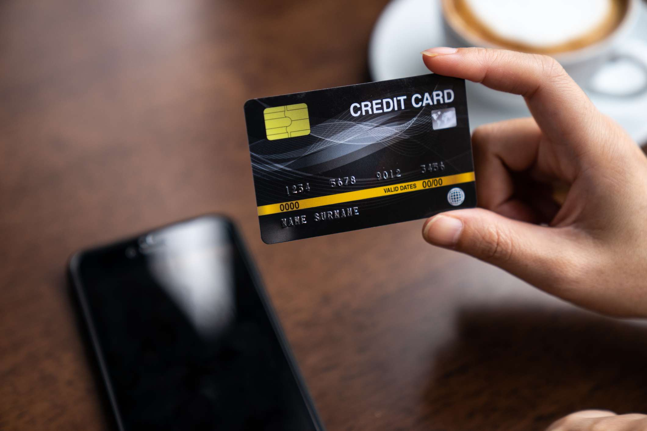 Credit card concept, Credit card payment
