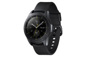Black Samsung Galaxy Watch in 42mm size.