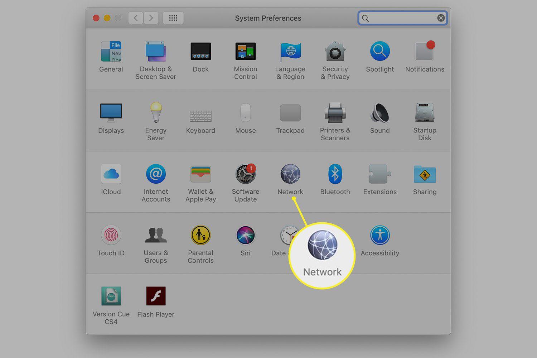 Mac System Preferences screen