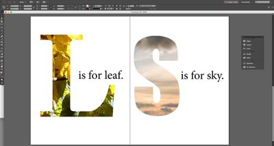 A common masking technique is to use a letterform as an image mask.