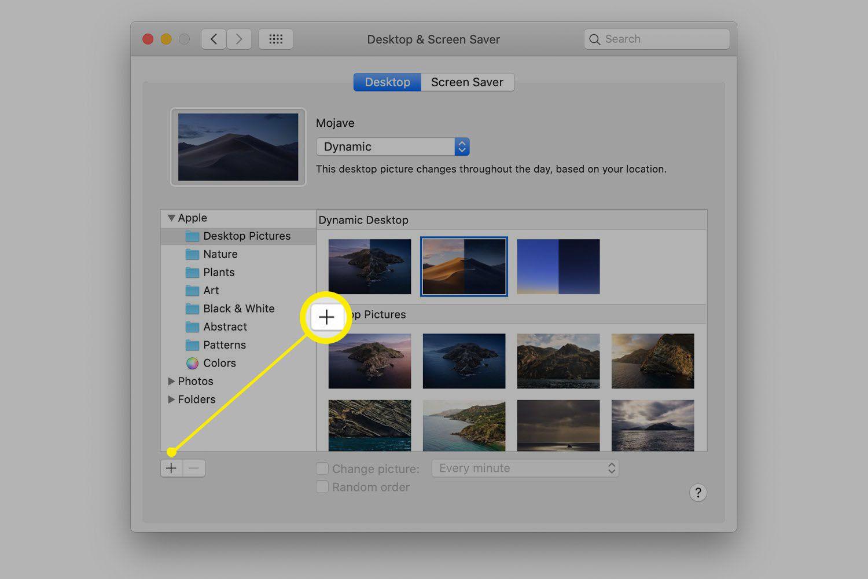 Apple's default desktop images in preference