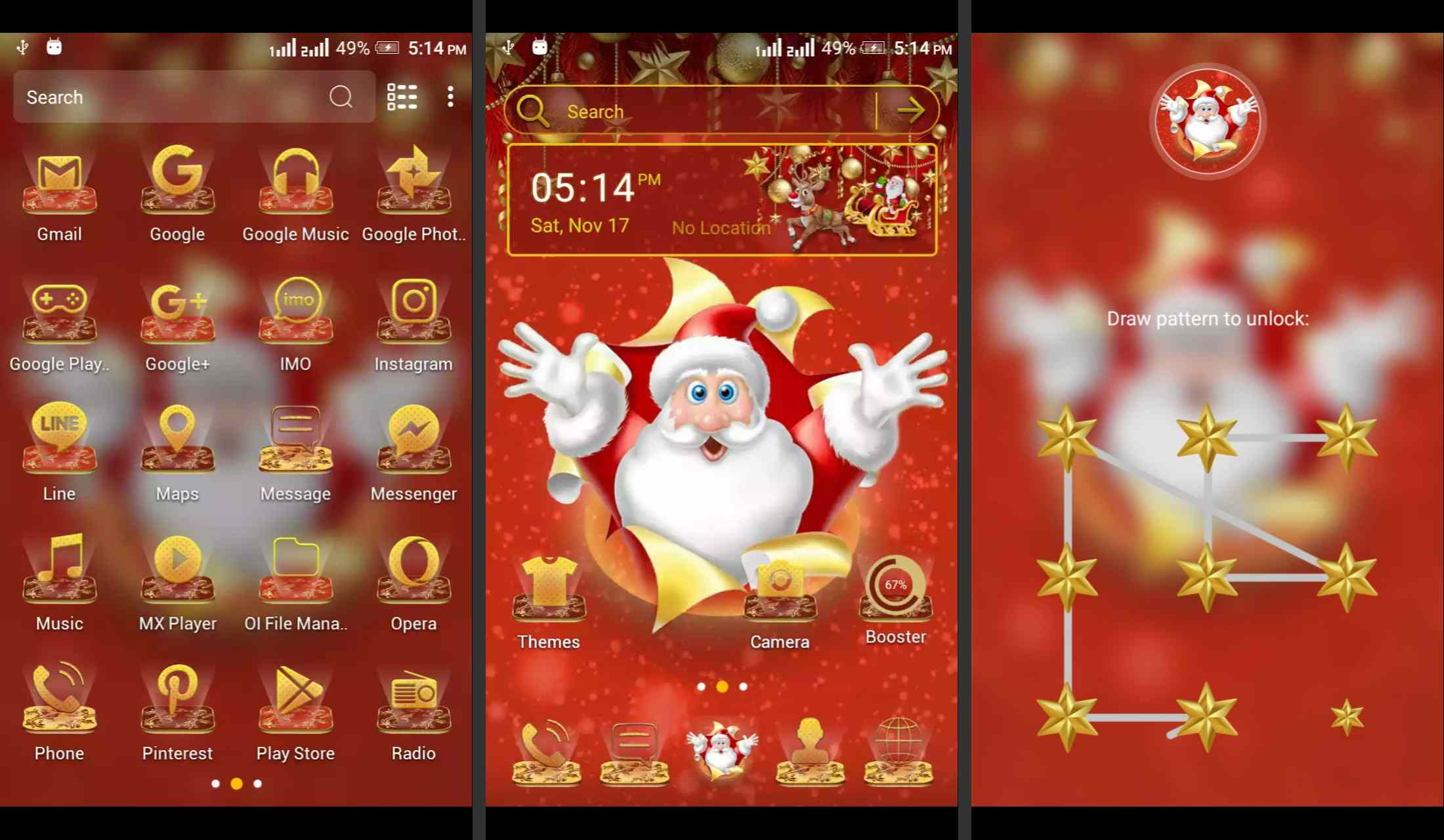 Santa Android theme for Android