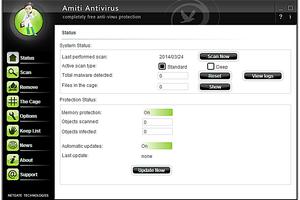 Screenshot of Amiti Antivirus in Windows 7