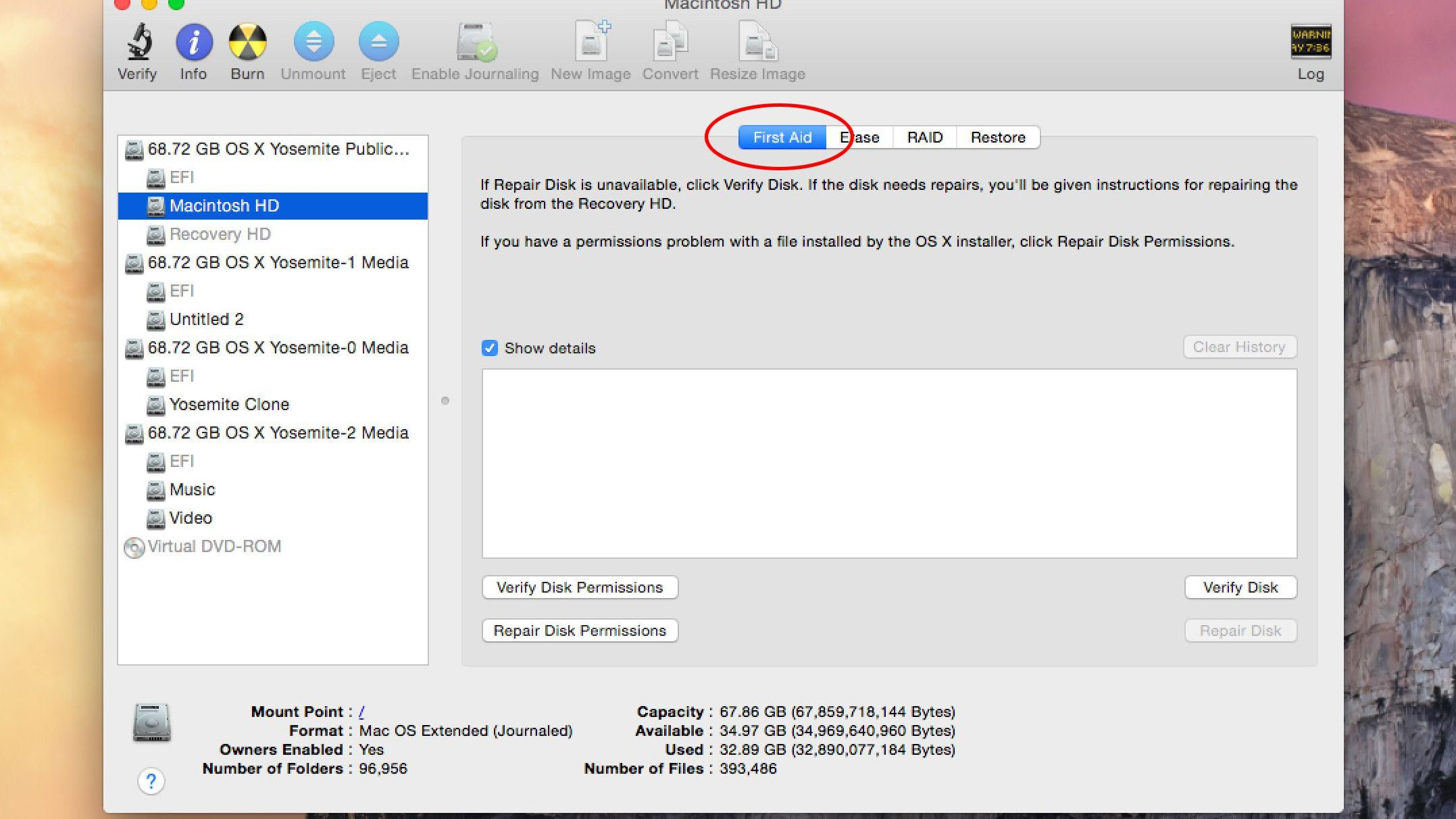 Repairing Hard Drives and Permissions With Disk Utility