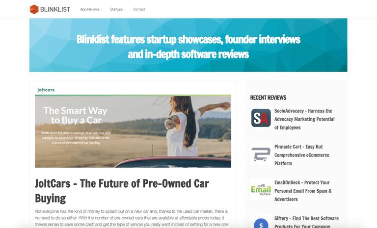 Blinklist homepage
