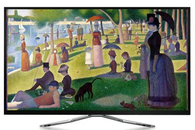 Artcast Example of a Painting Displayed On TV