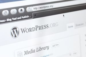 An image of a computer screen showing WordPress.org.