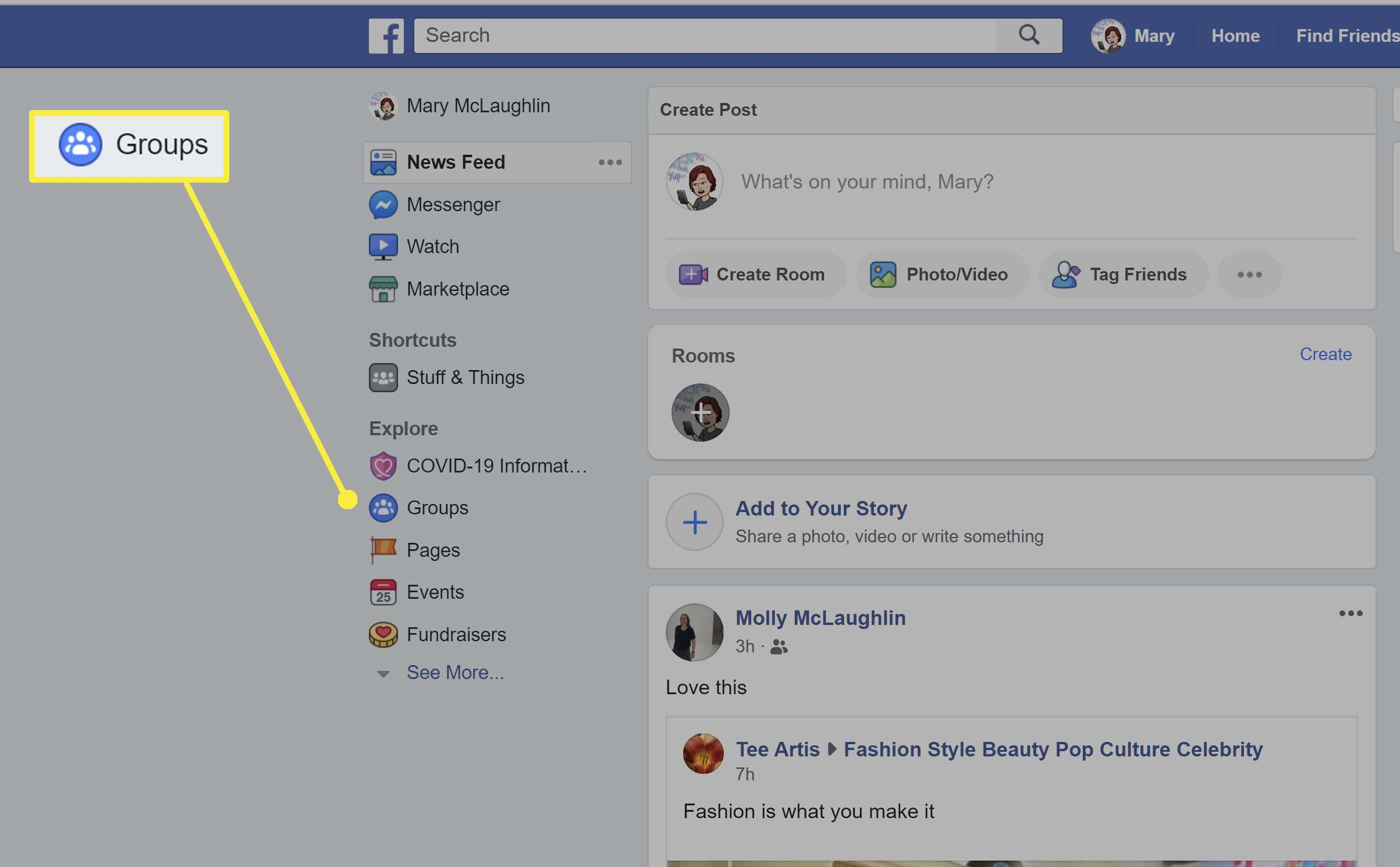 Making someone an admin on a Facebook page.