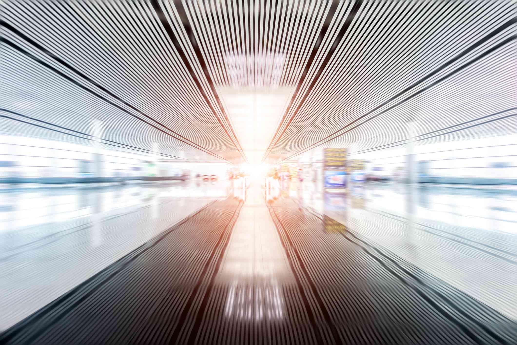 Interior of an airport terminal