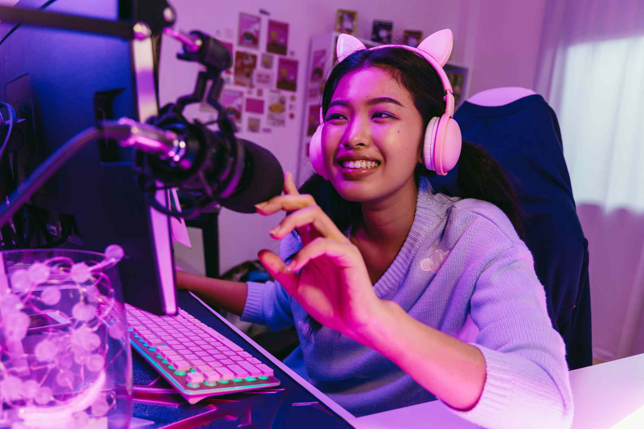 Livestreamer smile
