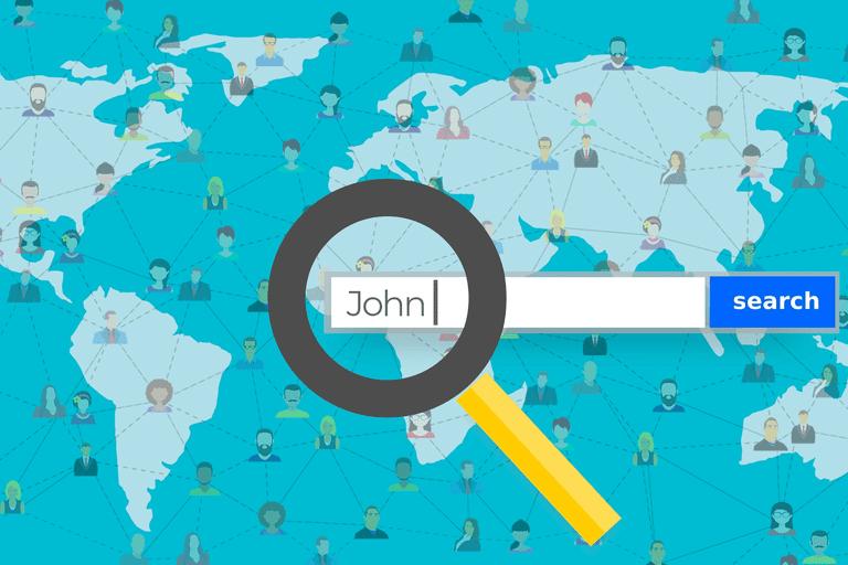 People finder search engine illustration