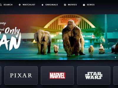 Disney Plus home screen