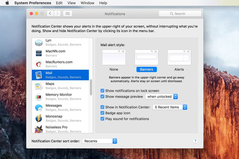 Notification Preference Pane - Control How OS X Alerts