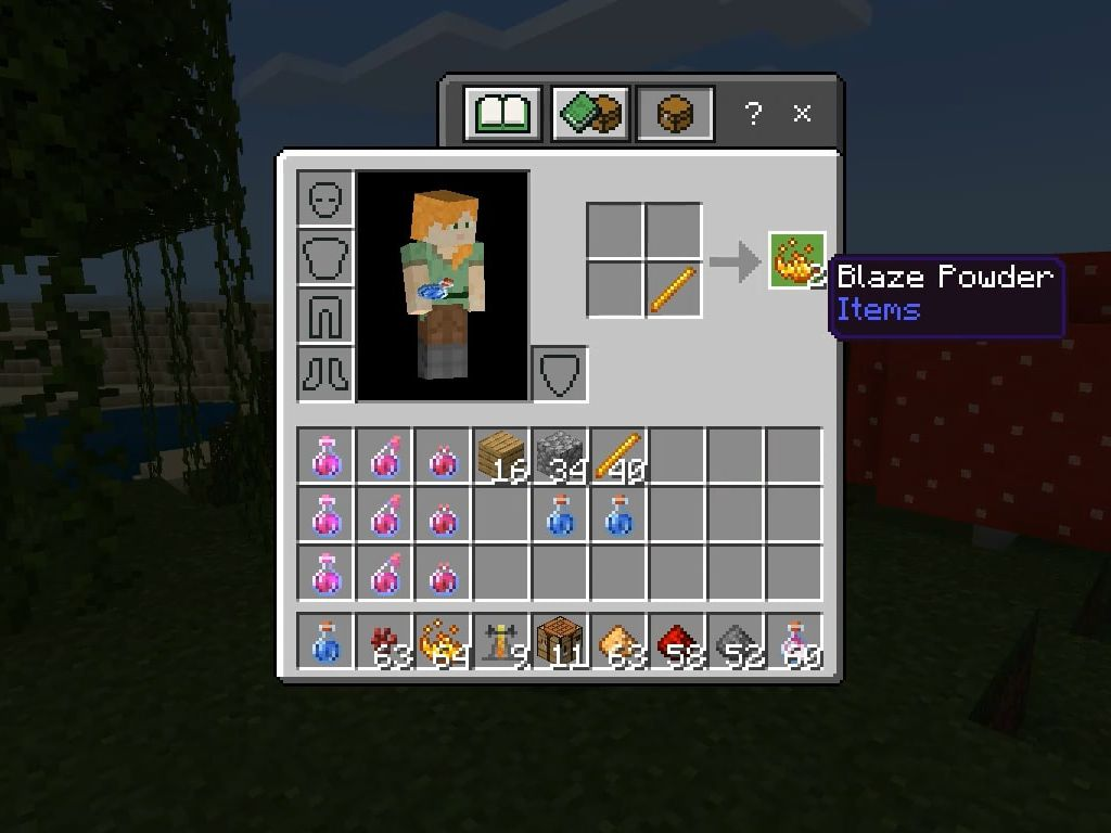 How To Make A Strength Potion In Minecraft