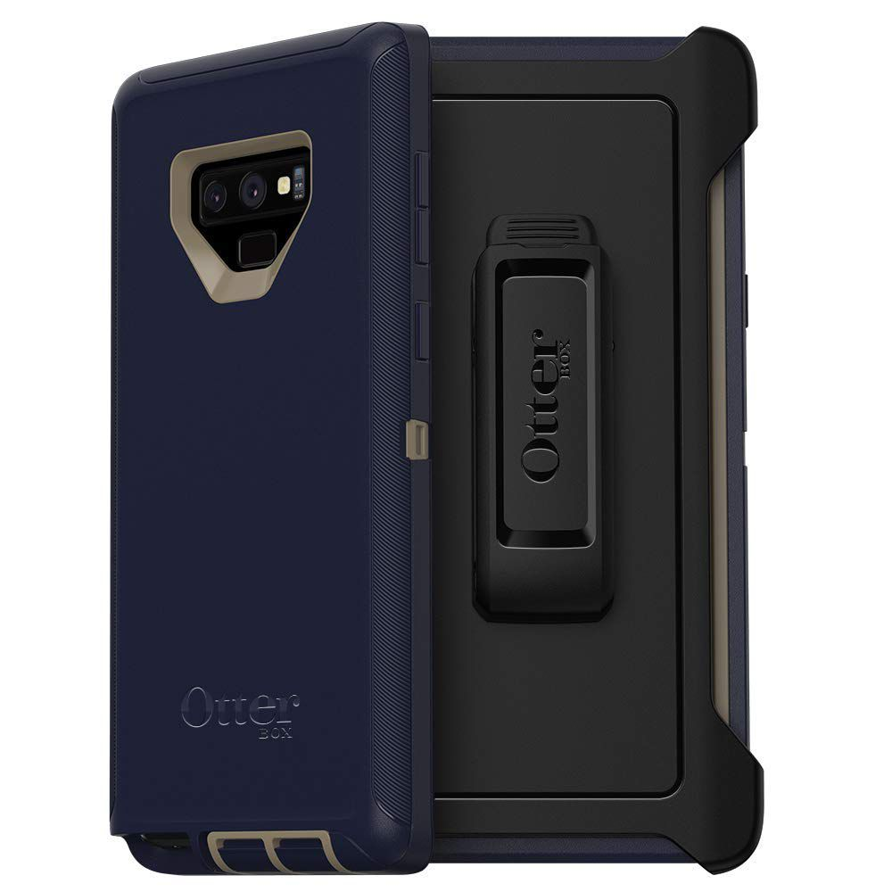 OtterBox Defender Series SCREENLESS Edition Case for Samsung Galaxy Note9 - Retail Packaging - Dark Lake (Chinchilla/Dress Blues)