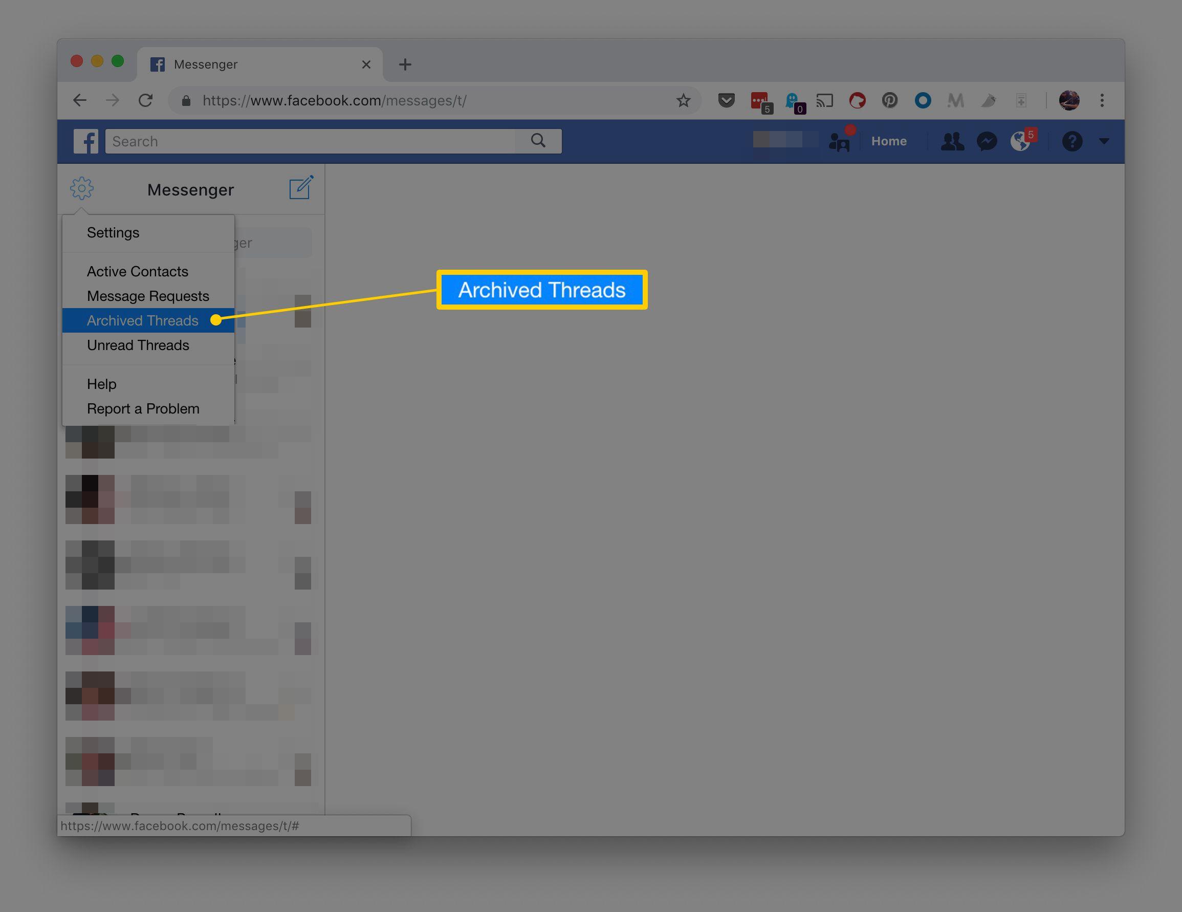 m facebook com messages