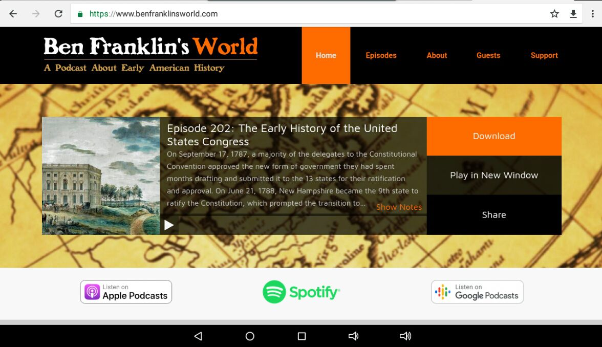 Ben Franklin's World home page