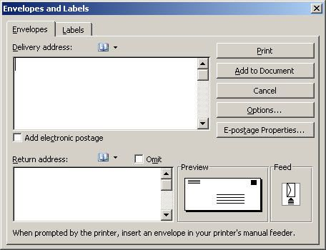 Create And Customize Envelopes In Microsoft Word