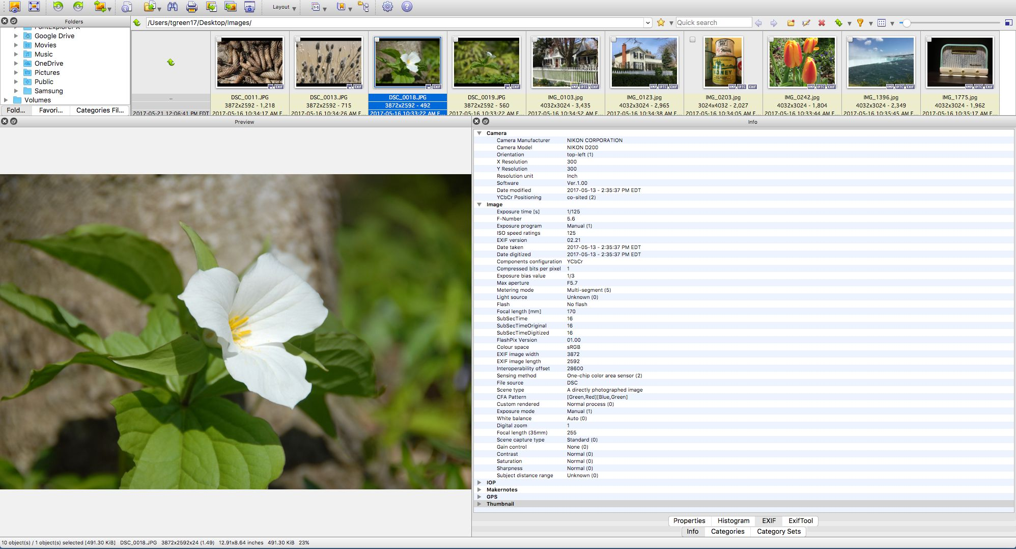 Viewing EXIF Data with XnViewMP