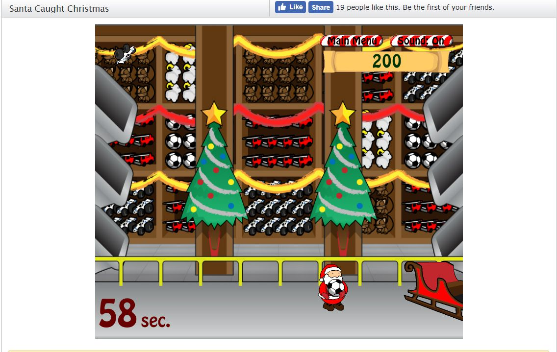 A screenshot of the game Santa Caught Christmas