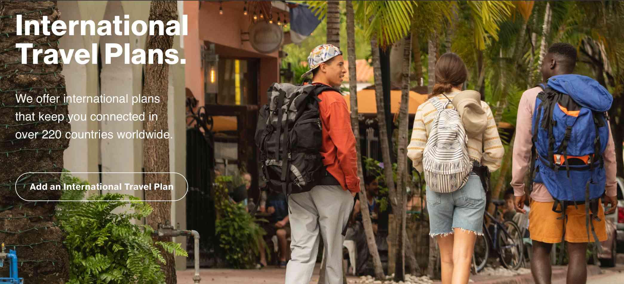 Verizon international travel plans