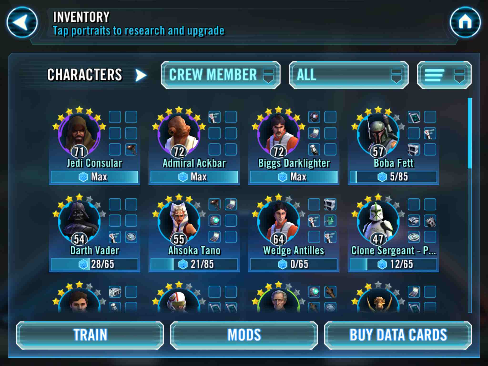 Star Wars: Galaxy of Heroes' Ships Guide