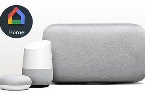 Google Home Smart Speaker Line with Google Home Logo