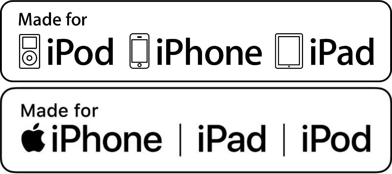 Made for iPod (MFi) logos.
