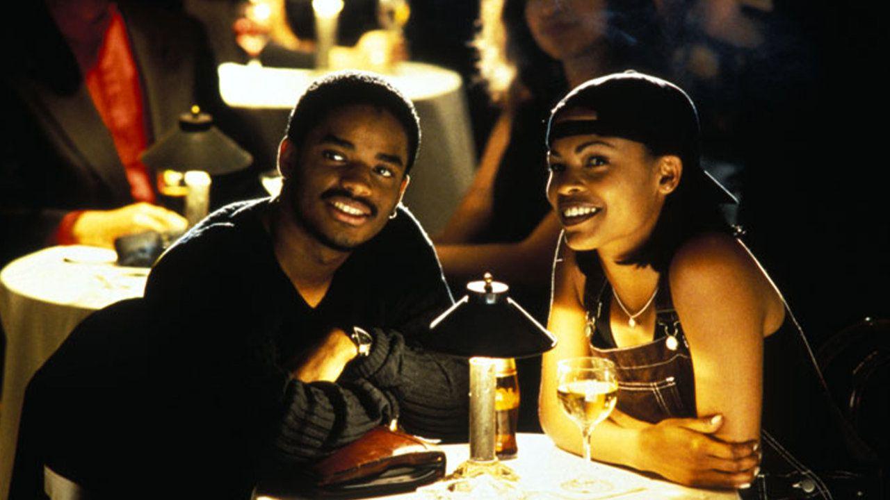 Larenz Tate and Nia Long in Love Jones