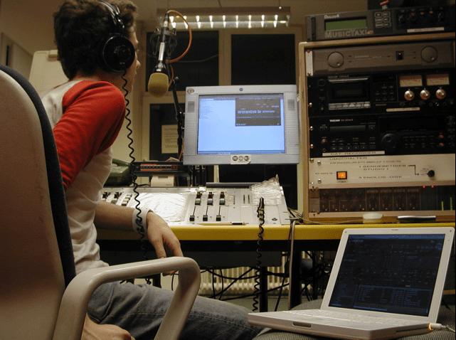 A home radio setup.