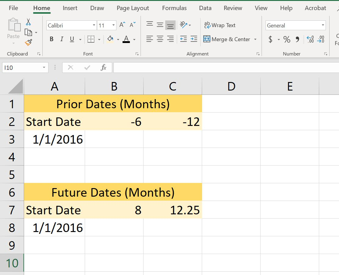 Use Excel's EOMONTH Function to Add or Subtract Months