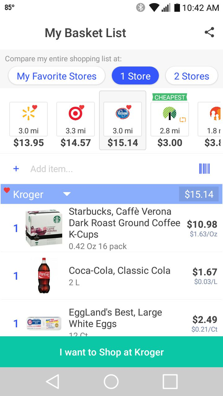 best grocery store price comparison apps
