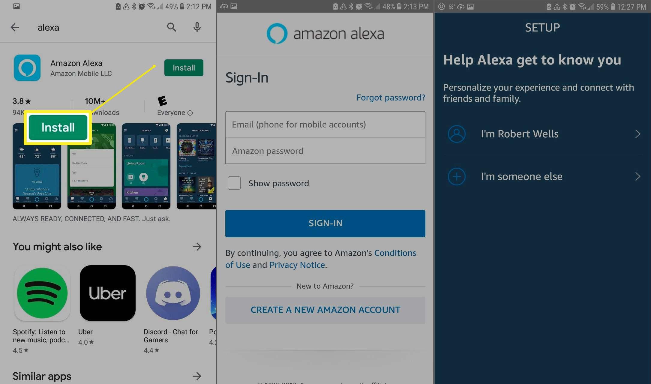 Installing Alexa on Android