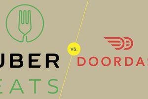 UberEats Vs Doordash graphic