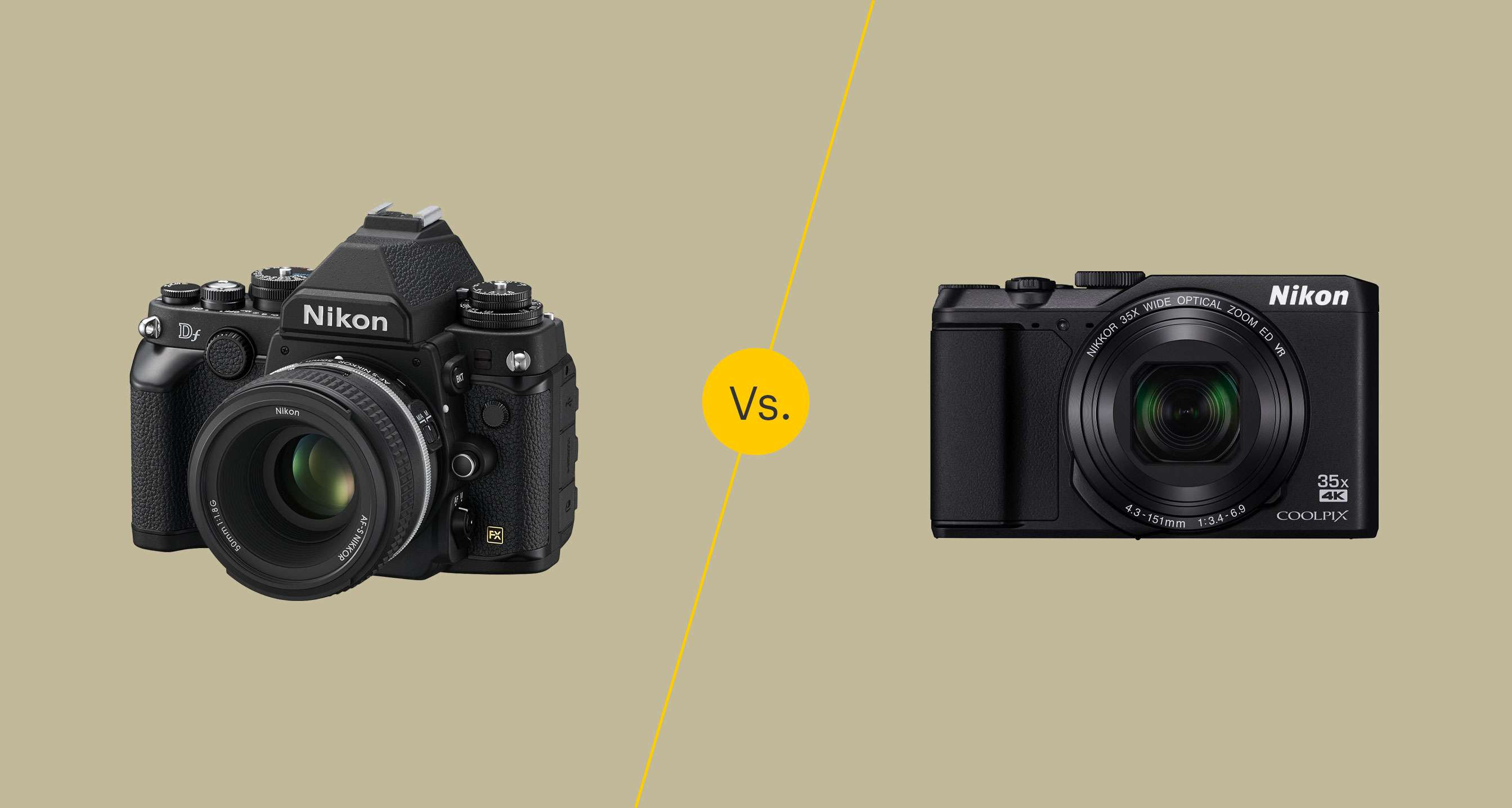 DSLR vs. Point-and-shoot cameras