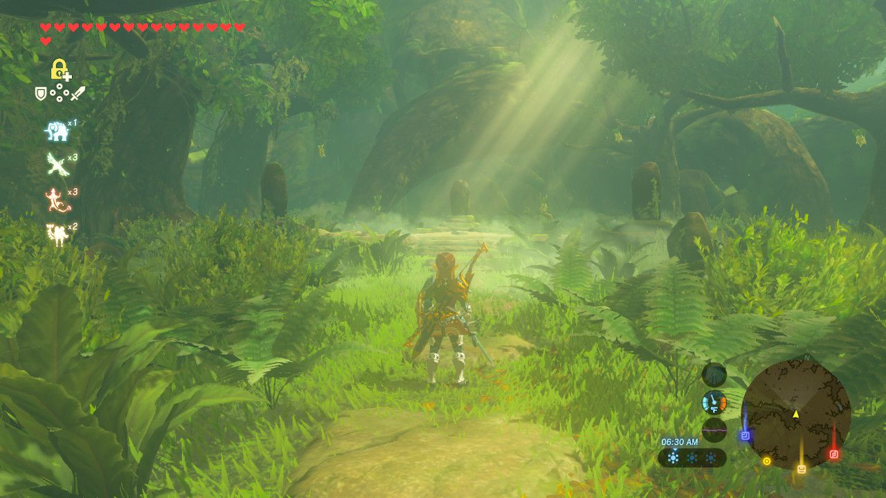 Arriving at Master Sword location in The Legend of Zelda: Breath of the Wild.
