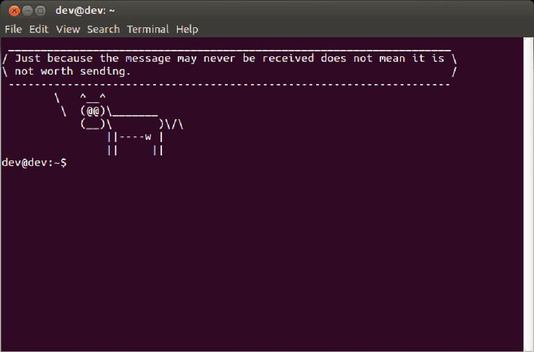 An Ubuntu Message of the Day